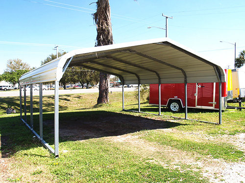 Portable Steel Car Ports : Carport metal portable carports